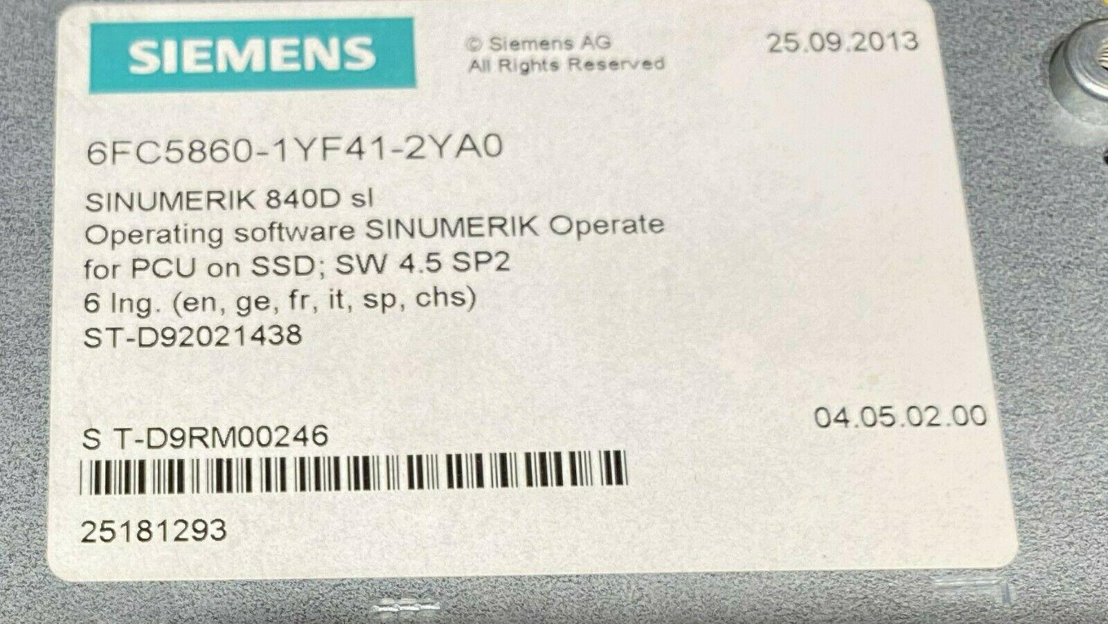 Siemens 6FC5210-0DF52-3AA0 Sinumerik 840D SLi PCU 50.5-C Windows 7 EmbSys SSD