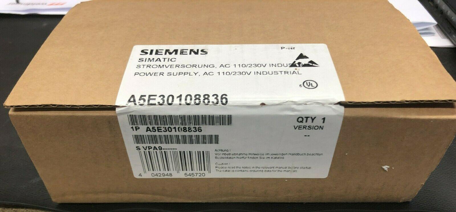 Siemens A5E30108836 Stromversorgung AC110/230V Neu